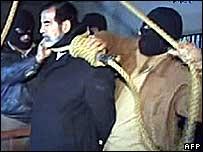 Hanging Saddam Hussein